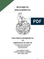 BEWAHRUNG DER SCHÖPFUNG - EINE HERAUSFORDERUNG AN ORDENSLEUTE HEUTE