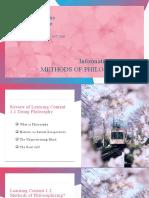 Philo Subject LM1.2 Methods of Philosophizing