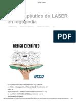 Uso Terapéutico de LASER en Logopedia