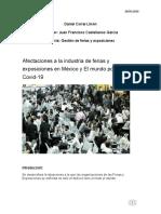 Afectaciones a la industria de ferias y exposiciones en México y El mundo por parte del Covid-19
