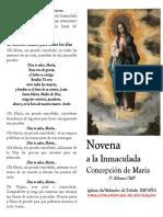 Novena a La Inmacuada. P. Ribera