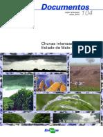Chuvas intensas no Estado de Mato Grosso