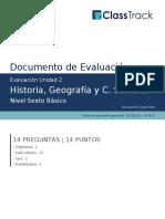 Historia, Geografía y C. Sociales_Historia, Geografía y C. Sociales_Evaluación Unidad 2_ClassTrack