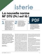 La nouvelle norme NF DTU 24.1 est là !