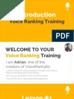 VoiceRank360 - Advance Training