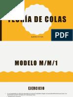 MODELOS DE TEORIAS DE COLAS