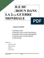 LE ROLE DU CAMEROUN DANS LA 2EME GUERRE MONDIALE