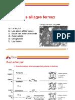 la microstructure des alliages de Fe-C