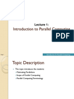 Lecture 1 - Introduction to Parallel Computing