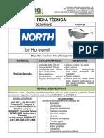 FICHA TECNICA LENTES NORTH A705 y A706