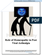 Role of Homeopathy in Post Viral Arthralgia
