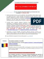 27.11.2020 Alerte de Calatorie COVID19