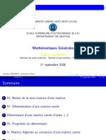 Calcul Matriciel Partie II