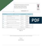 llovett professional development log