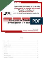 investigacionI plan 2008