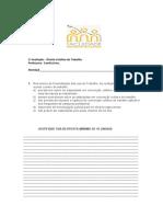 1 avaliação - DCT Metropolitana