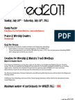 WIRED 2011 Information Packet