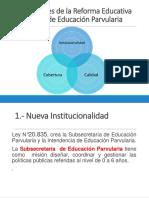 PPT Ejes Centrales de la Reforma Educativa del nivel de Educacion Parvularia