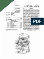 Hand held gas engine blower (US patent 4674146)