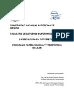 Prog Farmacología y Terapéutica Ocular 2021-1