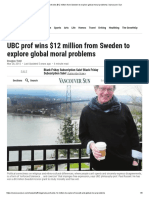 UBC prof wins $12 million from Sweden to explore global moral problems _ Vancouver Sun