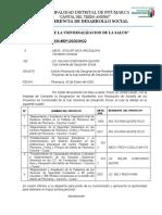 INFORME Nº 0010SOLICITO designacion de residentes