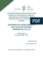 Informe ambiental MTOP