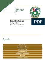 Legal Prof - Career Options