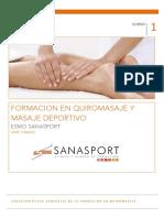 Formacion en quiromasaje y masaje deportivo