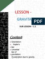 Sub lesson 1