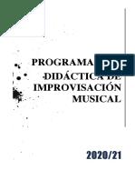 IMPROVISACION MUSICAL OPT.20.21