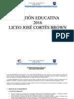 GESTION EDUCATIVA 2016