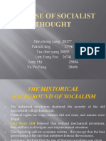 The Rise of  Socialist Thought