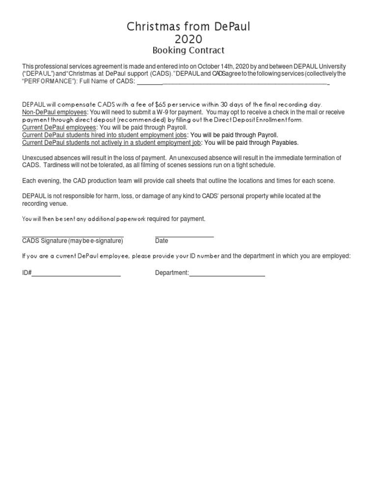 Depaul Academic Calendar 2022 2023.Cads 2020 Contract Hpc