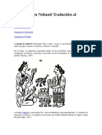 10 Poemas en Náhuatl Traducidos al Español