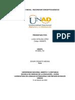 Tarea inicial Unidad 1 - Reconocer conceptos básicos