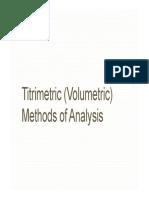 Mod 2. Lesson 2 - Titrimetry 1