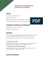 PRINCÍPIOS BÁSICOS DE TEORIA MUSICAL VOLTADA AO ESTUDO DA GUITARRA
