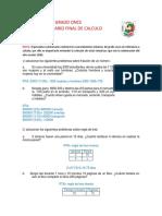 Cuestionario calculo final