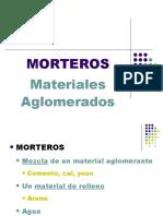 MATERIALES AGLOMERADOS MORTEROS