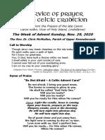 Celtic Advent I Nov'29'20 David Adam