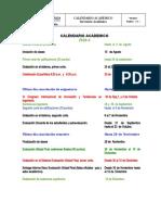 CALENDARIO ACADEMICO FACULTAD INGENIERIA  PERIODO 2020 -3 ]