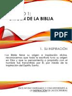 Lección 1  La Biblia