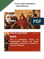 APOCALÍPTICA Y NUEVO TESTAMENTO. Diapositivas