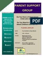 Flyer VISTA.2011 Parent Madision CHADD Group