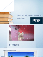 SDR NAVAL ARHITECTURE II - Rudder THEORY.pptx