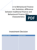 Behaviroual finance ppt