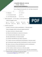 FICHA N1 LOGICA MATEMATICA  11CLASSE