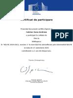SELFIE-certificate