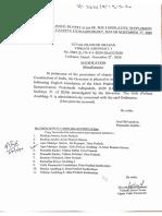The Uttar Pradesh Prohibition of Unlawful Conversion of Religious Ordinance, 2020